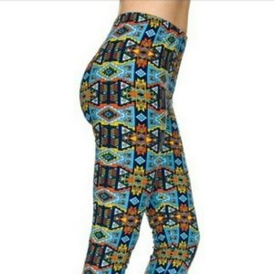 Colorful Aztec Print Leggings